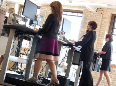 Treadmill Desk Photo From Salo LLC - NPR