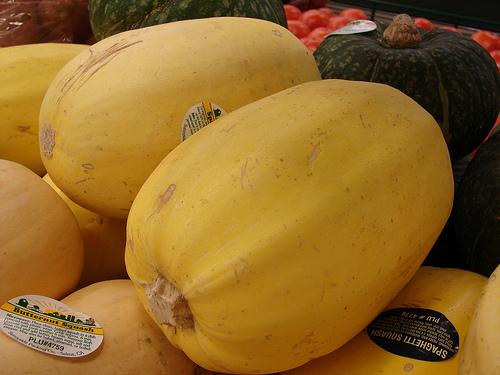 Whole fresh spaghetti squash