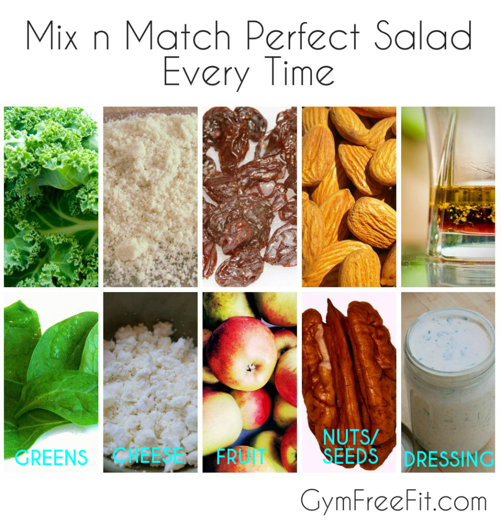 mix n match perfect salad recipe