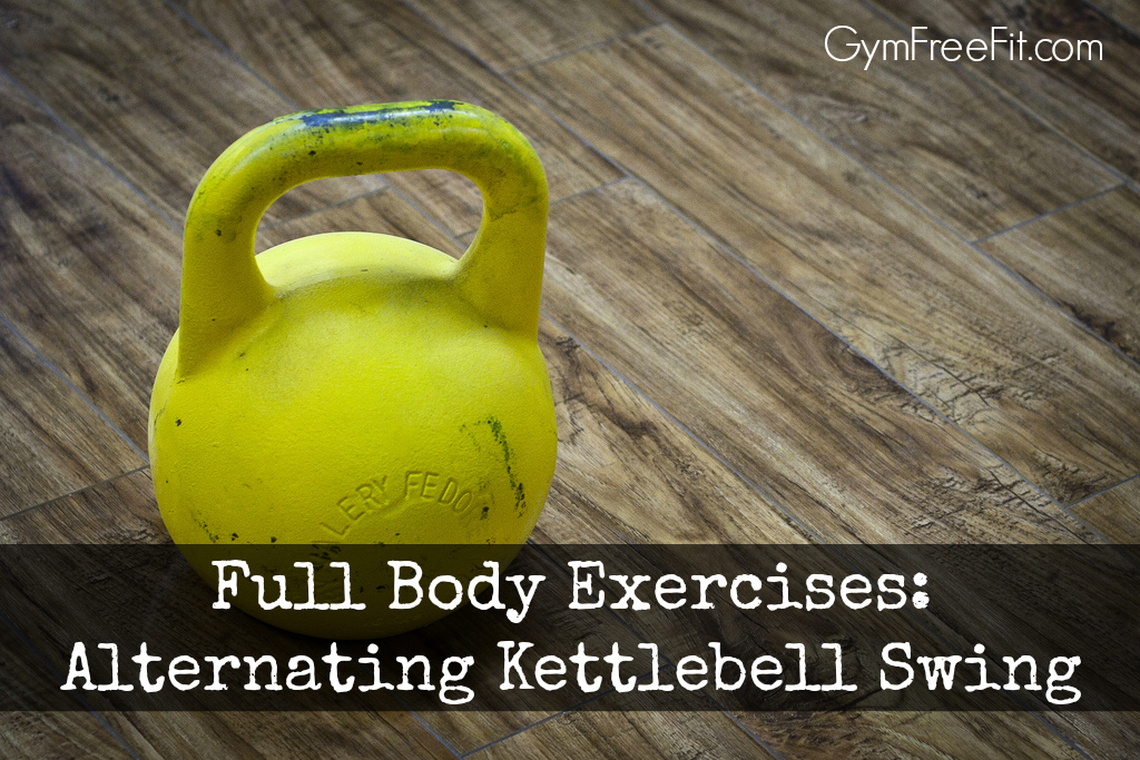 full body exercises alternating kettlebell swing