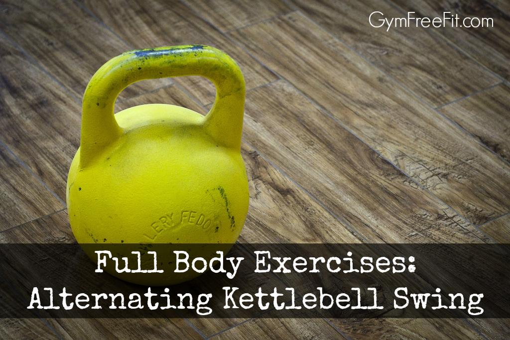 full body exercises alternating kettlebell swing